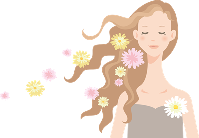 バラの香りの白髪染