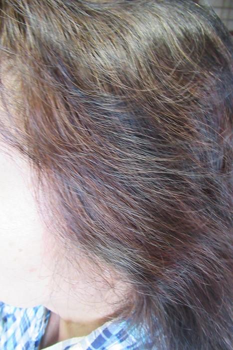 マイナチュレカラートリートメントで染め上げた白髪の写真